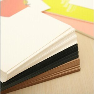 20Sheets lot Blank Greeting Cards Kraft Paper Blank Postcards DIY Hand Painted Graffiti Card vintage Message Card 144 x 94mm