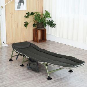 Işık Napping Katlama Yatak Büro Öğle Arası Sandalye Garden Lounge Chair Portatif Açık Basit Camp Yatak Salon