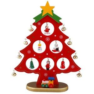 Creative DIY Wooden Christmas Tree Decoration Christmas Gift Ornament Xmas Tree Table Desk Decoration