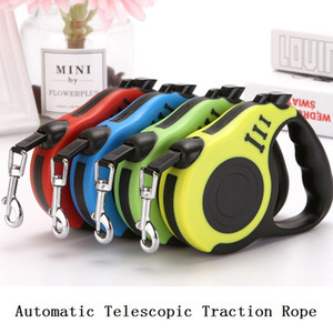 3M 5M Retractable Dog Leashes Lead Dog Chain Anchor Chain Automatic Retractable Dog Collars for Small and Medium Pet Walking