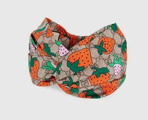 Heißer verkauf designer erdbeere kreuz stirnband für frauen mode elastische haarbänder mädchen turban kopf wraps geschenke