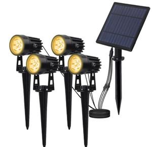 Paysage solaire Spotlights étanche Lampes solaires extérieur Auto ON / OFF solaire pour mur Lumières de jardin Allée Pathway