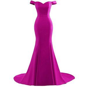 Hot Sale Off-shoulder Modest Bridesmaid Dresses Mermaid Black Maid of Honor Dress Zipper Up Fall Wedding Guest Dresses