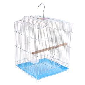 Pet Bird Cage Avec bâton support pour petit perroquet perruche Conure Au hasard H801D