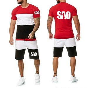 2020 manches courtes d'été des hommes Épée SAO Art en ligne Imprimé de haute qualité coton casual Pantalon T-shirt pour homme Costume 2Pcs N