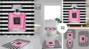 Lusso nuovo stabilimento diretta digitale poliestere stampa tappeto bagno doccia toilette su misura tenda schermatura bagno tenda all'ingrosso