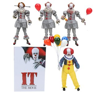 16-25cm NECA IT the movie Pennywise Joker 1990 Stephen King Clown Figure NECA VS Predator figure Halloween Decorations Gifts