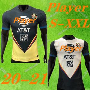 Версия игрока G. Dos Santos 20 21 home America Yellow jersey soccer R. SAMBUEZA P. AGUILAR 2020 2021 away Mexico club Football Shirt Thai top