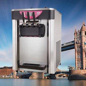 Making portátil de acero inoxidable Helado / máquina de helado suave barato con tres máquinas de alta calidad / sabor de bebidas frías