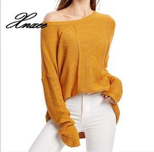 Xnxee Mujeres sólido o cuello suéteres y jerséis de punto 2019 otoño invierno ropa Pullover