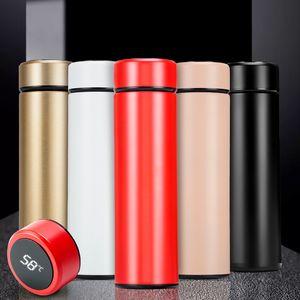 Светодиодный дисплей температуры Термос 500мл Смарт Вакуумные бутылки воды 304 из нержавеющей стали Путешествия термос кофе бутылки