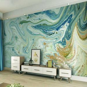 Papel de parede Foto Personalizado 3D abstrato azul padrão de mármore TV fundo Mural Wallpaper para sala de estar Cozinha Home Decor