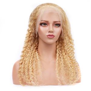 HCDIV 613 capelli umani Wgis brasiliano Raw Remy Onda profonda 13 * 4 pizzo parrucca anteriore biondo chiaro parrucca prezzi all'ingrosso della fabbrica DP 63