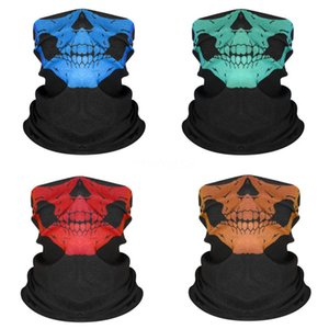 55*55Cm Bandanna Paisley Print Handkerchief Magic Skull Scarf Riding Headband Square Turban Outdoor Hiking Face Magic Skull Scarf Ljj #87#824