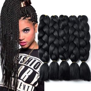 24inch synthétique gros Jumbo Tressage Extension de cheveux à haute température fibre Kanekalon Crochet Twist Tresses cheveux 5pcs / lot Xpression vracs
