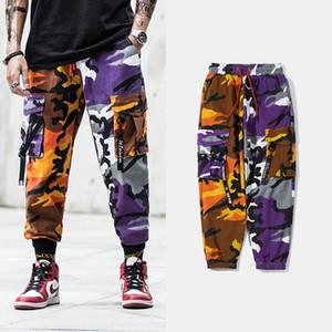 2020 Men new Harajuku style camouflage multi-pocket muslimants male hip-hop korean streamer wild beam plus size