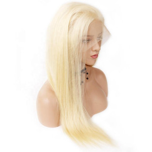 Full Lace Human Hair Wigs with Baby Hair Pre Plucked Pure Color 613 Blonde Peruvian Remy Hair Full Lace Wigs For Wome
