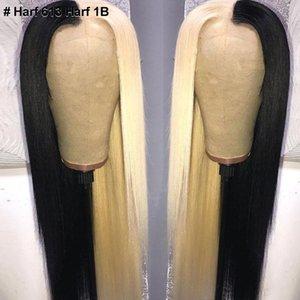 ISHOW 13 * 4 Кружева Фронтальная парик фронта шнурка человеческих волос парики прямой желтый зеленый Remy человеческих волос Парики Розовый Красный Синий Фиолетовый Ombre париков