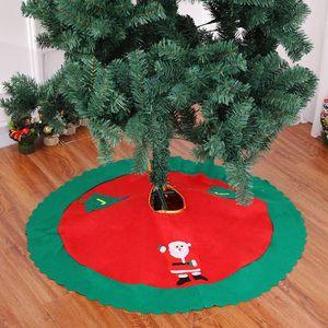 2018 New Lovely Christmas Tree Skirt Sled Reindeer Snowman Cover Base Decoration Xmas Tree Cover Decor
