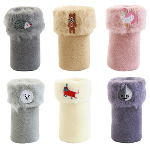 Baby Girl Cute stockings Embroidery Cartoon Pattern Cotton Long Infant Children Soft Leg Warmer Cartoon stocking 6Colors