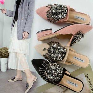 Hot 2020 Frauen flache Schuhe Ballettschuhe Breath Knit Spitz Mokassin Diamanten Frauen Soft Frauen Schuhe De