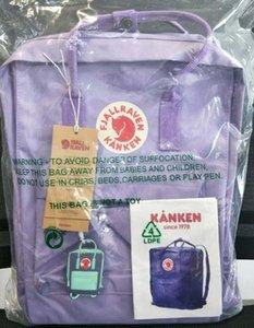 Yeni Fjällräven Kanken Tuval Mor Sırt Fjällräven Kanken Çocuk Açık Çanta İçin Kız Sıcak Satış