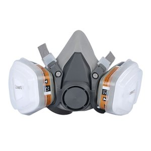 Half face Activated Carbon Filter Cartridge Dust Gas Mask for Respirator 6200