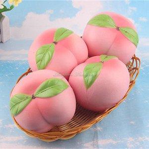 Squishy Розовый персик Slow Восходящая крем ароматическая Искусственный фрукты Таблица Декор 10см