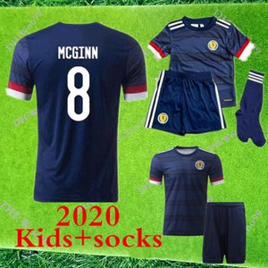 2020 SCOTLAND FOOTBALL BOY + SOCKS JERSEYS 20 21 BOBERTSON FRASER ARMSTRONG BURKE CcGREGOR FORREST ENFANTS KIT + SOCKS FOOTBALL JERSEYS