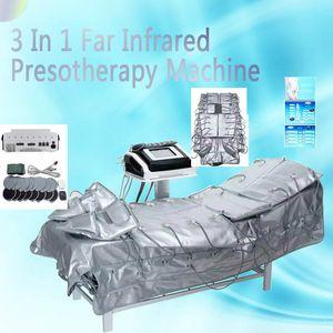 venta caliente 3 en 1 Presoterapia infrarrojo lejano infrarrojo Máquina de drenaje linfático ccsme que adelgaza la máquina de juego del envío rápido