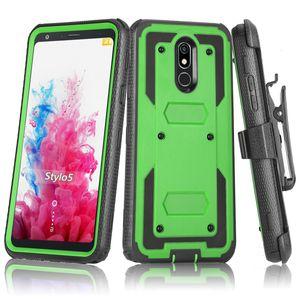 Para Motorola G9 Além disso Reproduzir construído na tela Protector coldre de cinto Clipe rotativo Kickstand Defender Heavy Duty Phone Case Capa