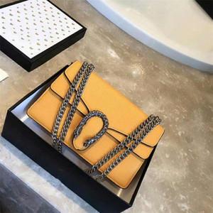 2019 marca bolsos de diseñador de lujo de moda Paquete de cadena de atmósfera retro simple bolso de hombro discreto elegante bolso de mensajero