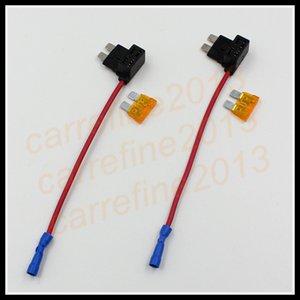4pcs ACS ATO Piggy Back Tap Fuse Ajouter Standard Circuit / Mini / Micro lame boîte à fusibles Porte double circuit Porte-adaptateur pour voiture camion