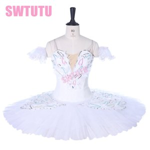 Performance Art White Swan Lake Ballet professionnel Costume de scène Tutus adulte Pancake Tutu BT9257