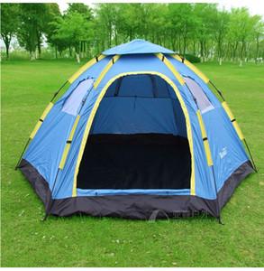 Полностью автоматическая наружная палатка для кемпинга туристические палатки 6-8 шестиугольная большая палатка/6-8 человек большая семья автоматическая палатка для кемпинга
