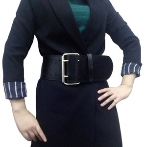 Fashion Classic big metal Double pin buckle Ladies wide belt Women's design high quality female casual leather belts winter coat