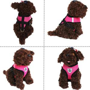 Cat Dog coleiras ajustável poliéster Harness Vest Leash chumbo de passeio por cãe Collar malha Harness para Small Medium Cat Dog Pet