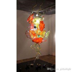 Placas de lâmpadas de arte soprada pendurado led candelabro luz design lustres de vidro Murano para casa lâmpadas de teto de iluminação decorativa