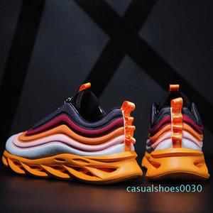 2020 Sonbahar Erkek Chunky Sneakers Dantel-up Düz Casual Ayakkabı Kalın Alt Renkli Nefes Yetişkin Erkek Tenis Ayakkabı C30