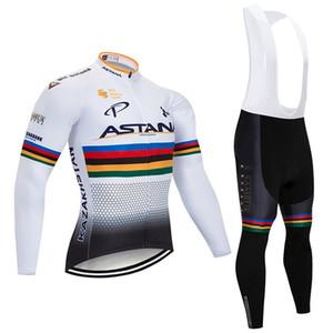 Зимний Велоспорт Джерси Установить ASTANA 2020 Pro Team Тепловое руно задействуя одежда Ropa Ciclismo Invierno MTB Джерси велосипед нагрудник брюки комплект