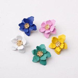 2020 batılı mat lake çiçek küpe tatlı doğal mizaç aksesuarları moda etnik stil vahşi küpe