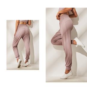 3 Renk Yoga Dikişsiz Jogger Gym Fitness Spor Yoga Gevşek Günlük Pantolon Lu Lu | emon
