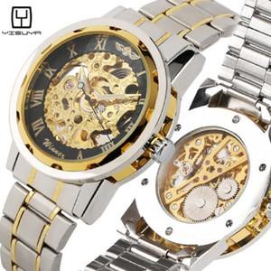 Orologi meccanici di moda per gli uomini Orologio digitale meccanico quadrante digitale per gli adolescenti Business Skeleton Mechanic Watch Boy