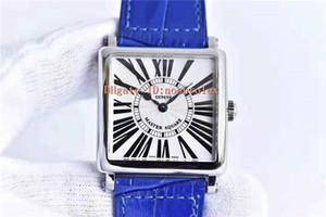 GF Master Square 6002 Женщина часы Швейцарский кварцевый механизм CNC дуговой площади 316L Стальной корпус сапфировое Roman Scale Италия кожаный ремешок