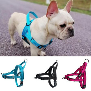 Easy Walking Dog Harness Soft Padded Reflective Adjustable Pet Harness No Pull Dog Harness with Handle and Two Leash Attachments