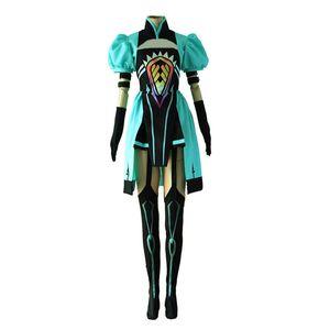 Судьба Гранд Заказать Судьба апокрифы Аталанта Труба Tops платье обмундирования Cosplay костюмы Fate / апокрифы Полный комплект Uniform Hal