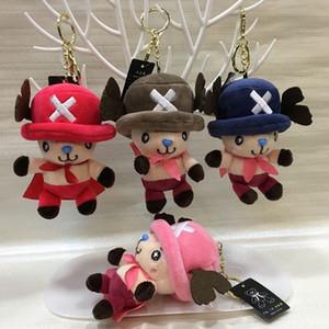 1PC de una pieza de 10 cm Cadena animado Tony Tony Chopper Con El Mantón juguetes de peluche relleno suave de la muñeca bolsa colgantes Clave niños y regalo de cumpleaños