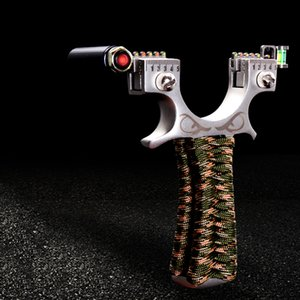 Professione in acciaio inox piatto Slingshot laser infrarosso Outdoor Catapult tiro potente Slingbow tradizionale Ricurvo Sling Huntingbow