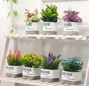 Nórdico creativo planta de simulación de maceta de cemento sala de estar decoración de escritorio decorativa maceta maceta bonsai en maceta