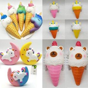 Dondurma Squishy Unicorn Squishies Yavaş Yükselen Süper Yumuşak Kokulu çilek Ayı Telefon Kolye Jumbo Charms Kek Ekmek Sıkmak oyuncaklar